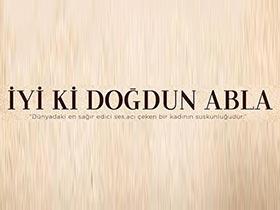 İyi ki Doğdun Abla Logo / Profil Resmi